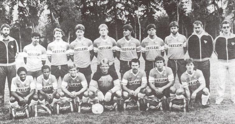 Hamilton Steelers team photo, circa 1986